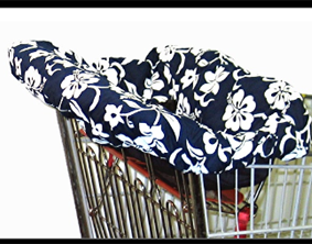 Navy Hibiscus Cart Cover