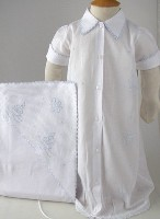Kenneth Day Gown, Blanket, and Diaper Cover Set