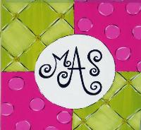 Four Square Monogram Art