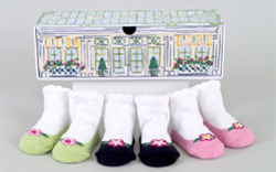 Garden Party 3 pair infant socks