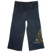 Devi Peacock Embroidered Jeans