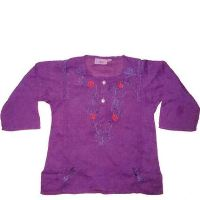 Purple Berry Embroidered Kurta