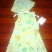 DPD green Floral dress