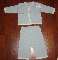 Blue Cardigan/Pant Set Knit
