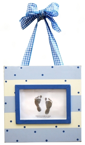 Blue Handprint/Footprint Frame