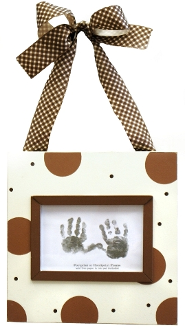 Chocolate Handprint/Footprint Frame
