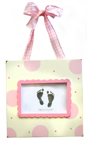 Pink Handprint/Footprint Frame