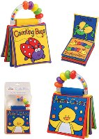 Set of 2 Touch and Feel Rattle Books