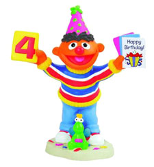 Ernie's 4th Birthday Figurine