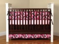 Pink Camoflauge Crib bedding