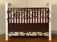 Maxfield baby Pink Crib Bedding