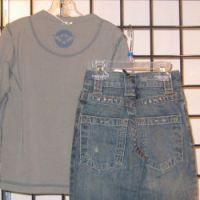 Long Sleeve Tee and Denim Set
