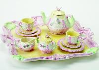 Pink and Yellow Tea Set