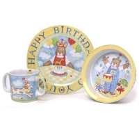 Happy Birthday Ceramic Dish Set