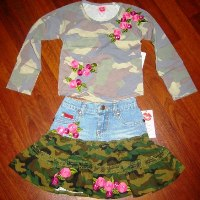 Camoflauge Skirt Set