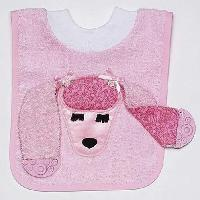 Poodle Teether Bib