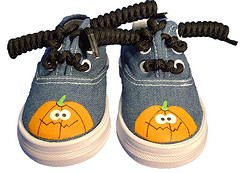 Pumpkin Glow Sneakers