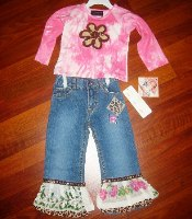 My vintage Baby Chenille Top and Hanky Jean Set