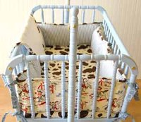 Retro Cowboy Cradle Bedding