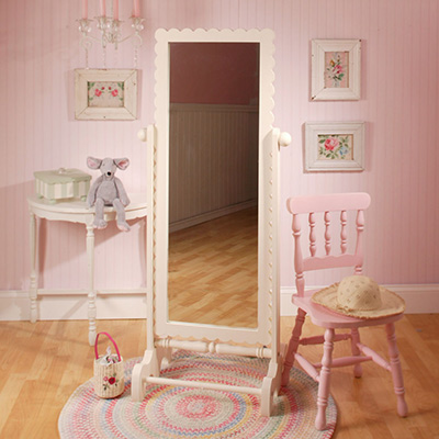Scalloped Floor Mirror