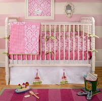 Pink Taffy Baby Bedding