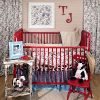 Retro Cowboy Baby Bedding