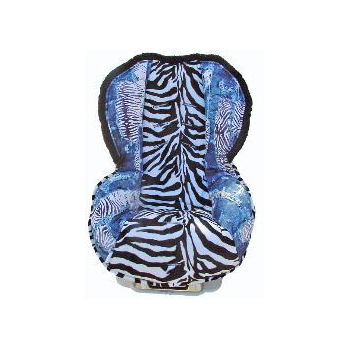 Zebra in Jeans Toddler Car Seat Cover
