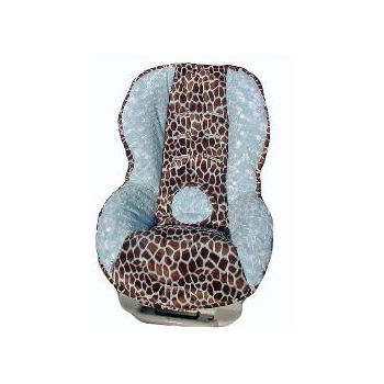 Blue Giraffe Toddler Car Seat Cover