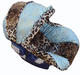 Baby Posh Blue Infant Car Seat Cover
