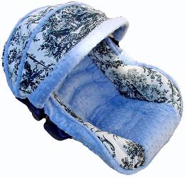 Baby Paris Blue Infant Car Seat Cover