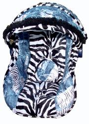 Baby Zebra in Jeans Infant Car Seat Cover