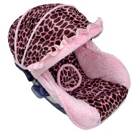 Baby Giraffe Pink Infant Car Seat Cover