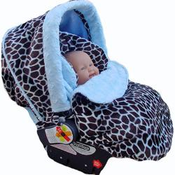 Baby Giraffe Blue Infant Car Seat Cover
