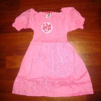 Oink Shirred Dress