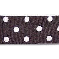 Black Dot Grosgrain Hairband