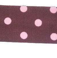 Brown with Pink Dot Hairband