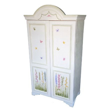 Floral Garden with Butterflies Armoire