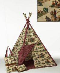Wild West Parchment Indoor Tee Pee