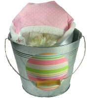 Ballet Dot Hooded Towel Bucket