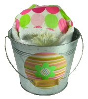 Mod Dot Hooded Towel Bucket